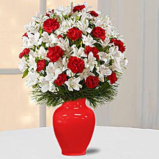 Alstromeria N Carnations: Send Flowers to Sharjah