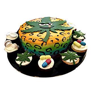 Anniversary Cake with Cupcakes: