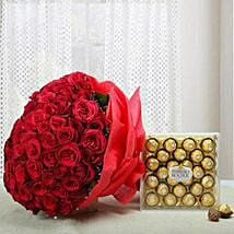 Attractive Combo of Love: Flowers N Chocolates