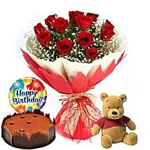 Birthday Blast Combo: Mothers Day Flower and Cakes to Dubai