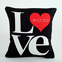 Black Love Cushion: Valentine Gifts for Husband to UAE