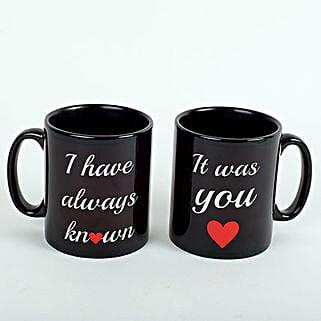 Black Love Mugs: Valentine Gifts for Husband to UAE