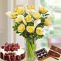 Blissful Combo: Send Flowers & Chocolates to UAE
