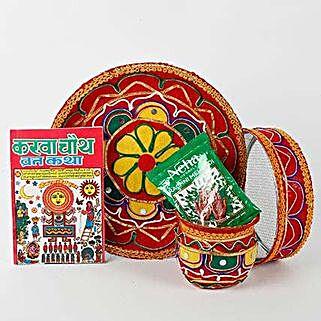Colourful Karwa Chauth Pooja Thali Combo: Karwa Chauth Presents to UAE