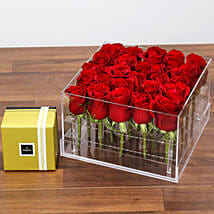 Dreamy Red Rose Box and Patchi Chocolates: Birthday Gift Delivery in UAE