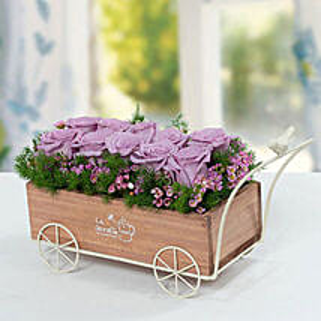 Elegant Rose N Wax Flowers Arrangement: Send Mother's Day Gifts to UAE