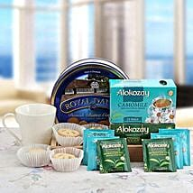 Eternal Blue Allure: Gift Baskets to UAE