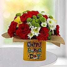 Festive Birthday Flower Arrangement: New Arrival Gifts to UAE