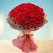 Grand 100 Red Roses: Flower Delivery in Abu Dhabi