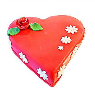 Hazelnut Choco Heart Cake: Valentine's Day Cake Delivery in Dubai