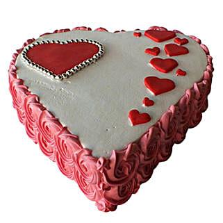 Heartshape Love Cake: Valentine's Day Cake Delivery in Dubai