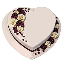 Heartshape Marble Cake: Valentine's Day Gift Delivery in UAE