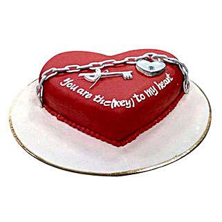 Key N Heart Cake: Valentine's Day Cake Delivery in Dubai