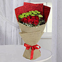 Love Red Roses Bunch: Valentine's Day Flower Bouquets UAE