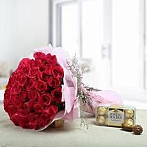 Lovely Presentation: Flowers N Chocolates