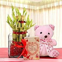 Lucky Bamboo and Bear Love: Valentine's Day Gift Delivery in UAE