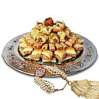 Lumba with Baklava Sweets: Rakhi With Sweets to UAE