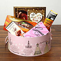 Luxurious Chocolates In Round Board Box: Valentine's Day Gift Delivery in Al Ain