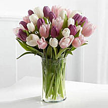 Painted Skies Tulip Bouquet: Wedding Gifts Dubai