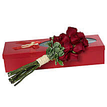 Passionate Red Roses Bouquet: Wedding Gifts to UAE