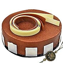 Rakhi with 4 Portion Triple Chocolate: Rakhi for Brother in UAE