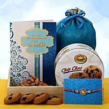 Rakhi with Almond Potli: Send Rakhi for Brother in UAE