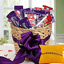 Rakhi with Choco Hamper: Rakhi - Guaranteed Delivery Collection For UAE