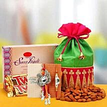 Rakhi with Soanpapdi N Almond: Rakhi for Bhaiya Bhabhi UAE