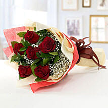 Romantic Red Roses Bouquet: Flower Delivery in Abu Dhabi