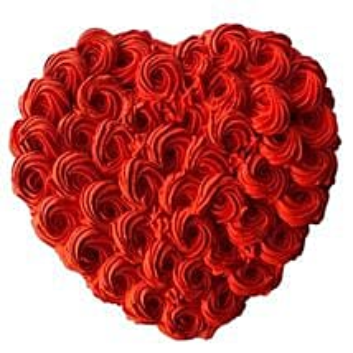 Rosy Love Cake: Valentine's Day Cake Delivery in Dubai