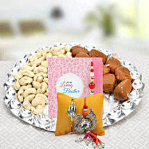 Set of Rakhi Lumba: Send Bhaiya Bhabhi Rakhi to UAE