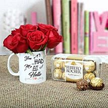 Splendid Gifts For U: Flowers N Chocolates