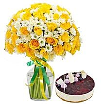 Sunshine Bouquet n Cake: Thank You Flower Delivery in UAE