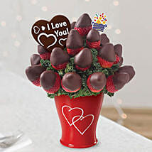 Sweetheart Bouquet with Belgian Chocolate Pop: Valentine's Day Chocolate Delivery in UAE
