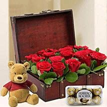 Treasure Hunt Combo: Send Flowers & Chocolates to UAE