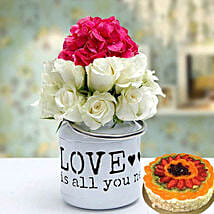Unique Gift Combo: Flower and Cake Delivery in UAE