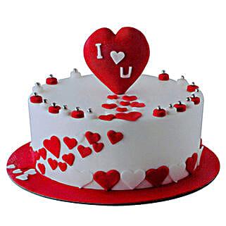Valentine Round Cake: Valentine's Day Cakes to UAE