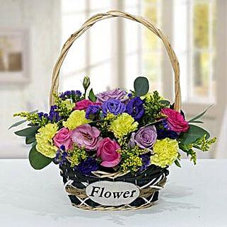 Vibrant Flower Basket: Send Birthday Flowers to UAE