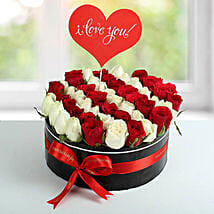 White N Red Roses Love Proposal Arrangement: New Arrival Gifts to UAE