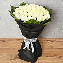 White Roses Bouquet: Same Day Condolence Flowers in UAE