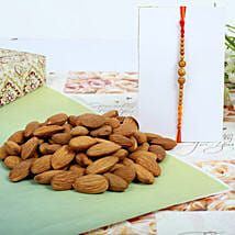 Almond nuts with Sandal Rakhi: Rakhi to Edinburgh