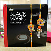 Assorted dark chocolates bhaiya bhabhi Rakhi Set: Send Rakhi to Edinburgh