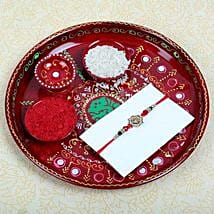 Aum Fancy Rakhi and Puja Thali: Rakhi to Edinburgh
