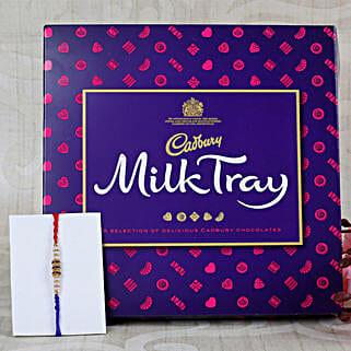 Blue Diamond Rakhi with Cadbury Chocolate: Send Rakhi With Chocolates to UK