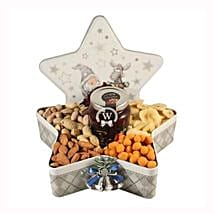 Christmas Star with Nuts: Gift Baskets in London, UK