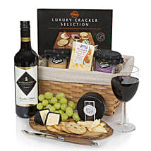 Christmas Wine Cheese And Pate Hamper: Send New Year Gifts to UK