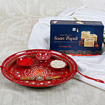 Ek Onkar Rakhi Sweet with Pooja Thali: Send Rakhi to Nottingham