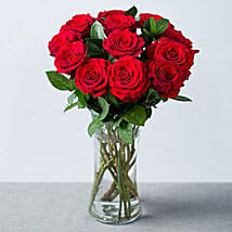 Elegant Bouquet Of Romance 12 Red Roses: Rose Day Gifts to UK