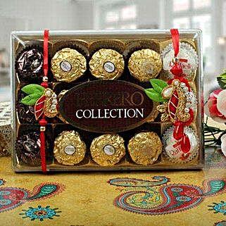 Ferrero Rocher Zardosi Bhaiya Bhabhi Rakhi: Rakhi for Bhaiya Bhabhi UK