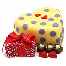 Hearts And Dots Cake Gift: Cakes to Oxford